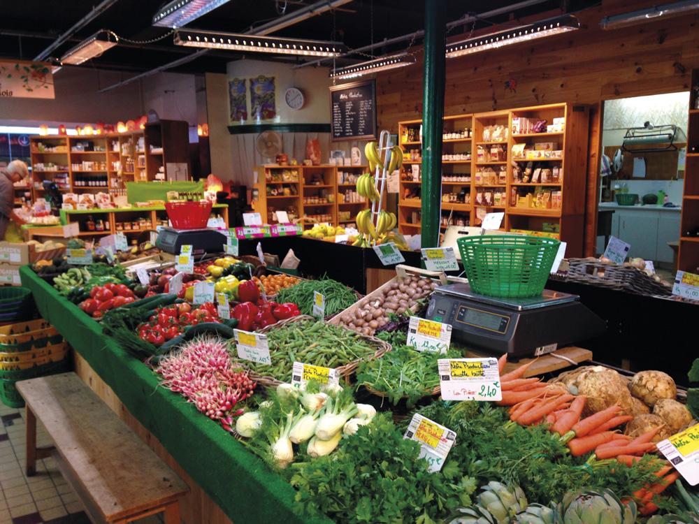 Stand des légumes de notre production