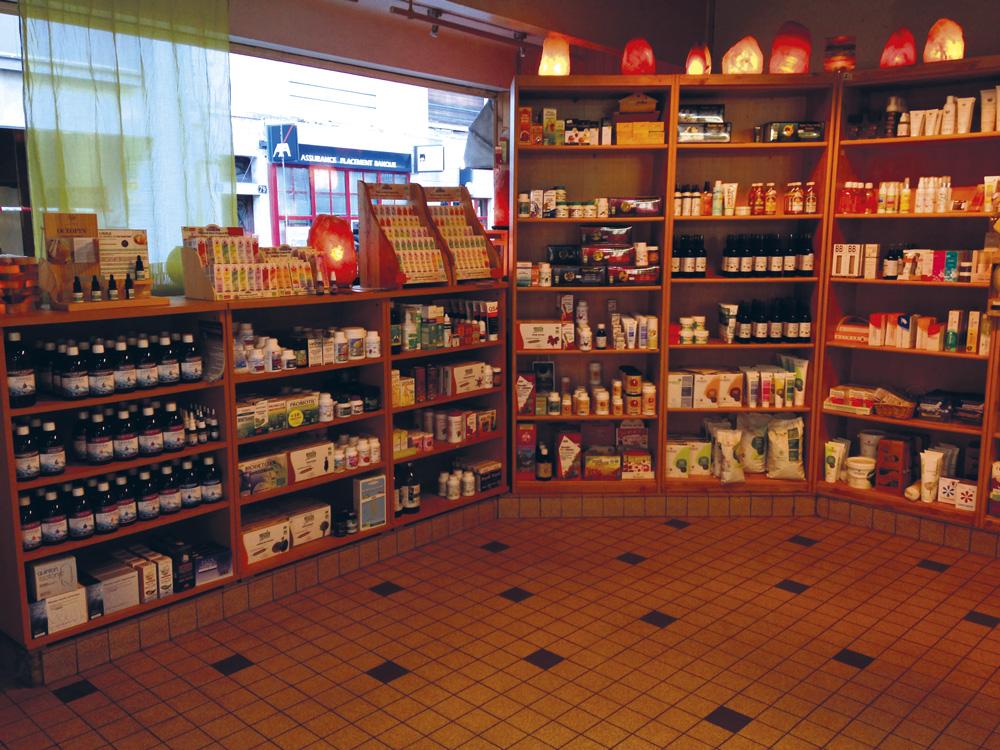 Rayons compléments alimentaires et cosmétiques