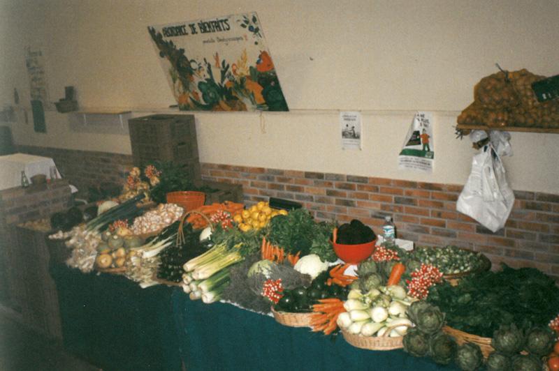 Notre stand sous le marché couvert de Moulins