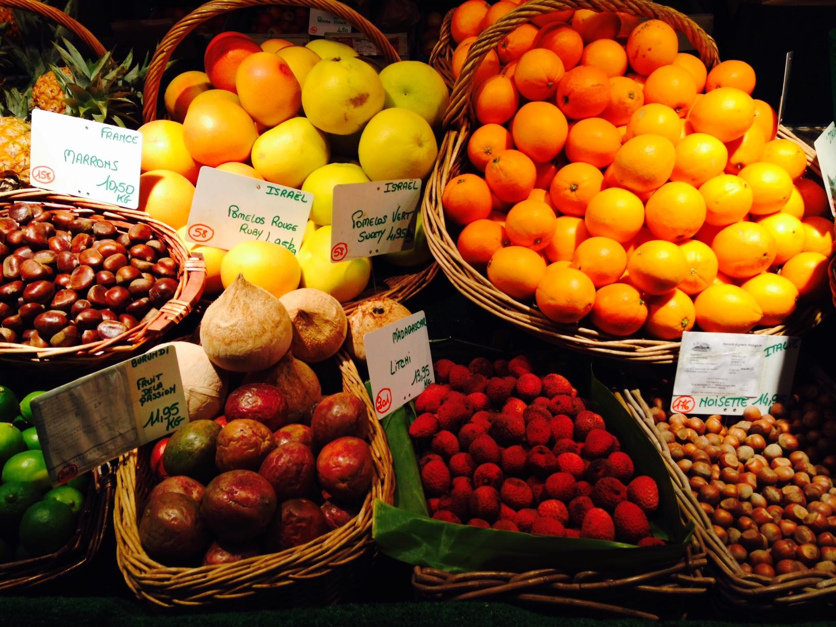 Agrumes et fruits exotiques
