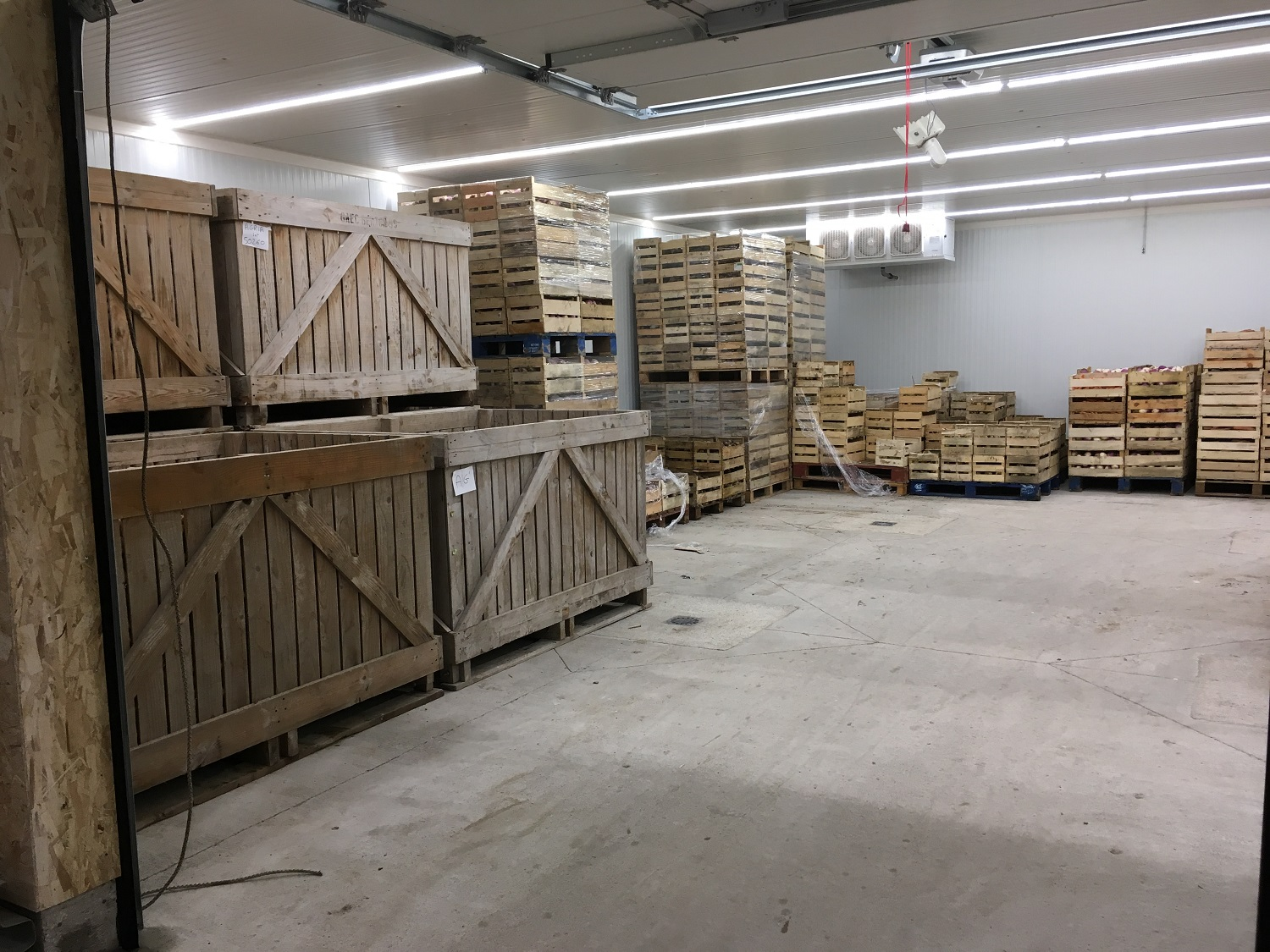 Stockage en attente de conditionnement